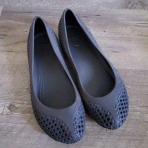 Women's crocs crossmesh star cutouts